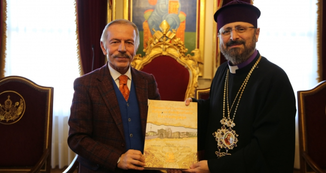 Bşk. Aydıner'den İstanbul Ermeni Kilisesi'nin 85. patriğine ziyaret