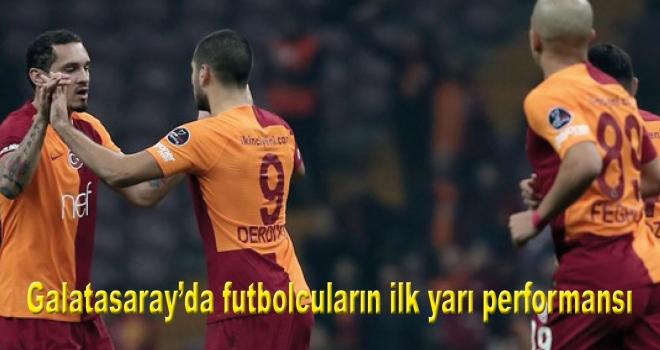 Galatasaray'da futbolcuların ilk yarı performansı