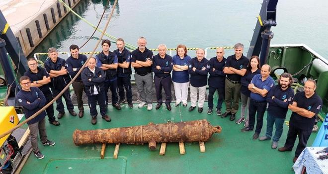 Didim açıklarında tarihi Rus savaş gemisi kalıntıları bulundu