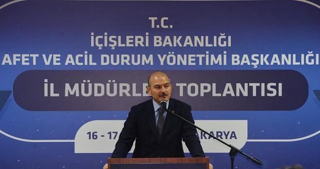 İçişleri Bakanı Soylu: Türkiye Avrupanın ikinci büyük deprem gözlem ağına sahiptir