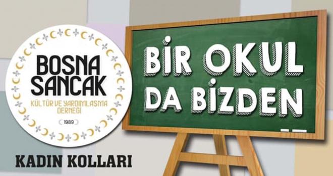 Bosna Sancak Derneği 'Bir Okul da Bizden' temalı kermes düzenledi