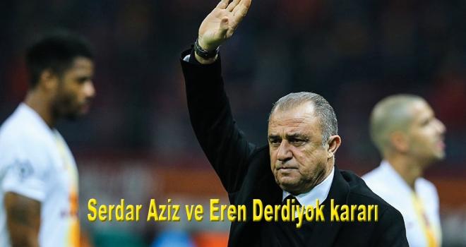 Galatasaray Teknik Dilrektörü Fatih Terim'den Serdar Aziz ve Eren Derdiyok kararı