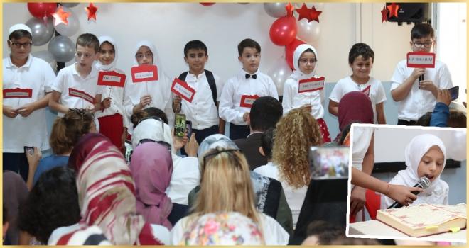 Kur'an-ı Kerim ve değerler eğitimi alan öğrenciler yeteneklerini sergiledi