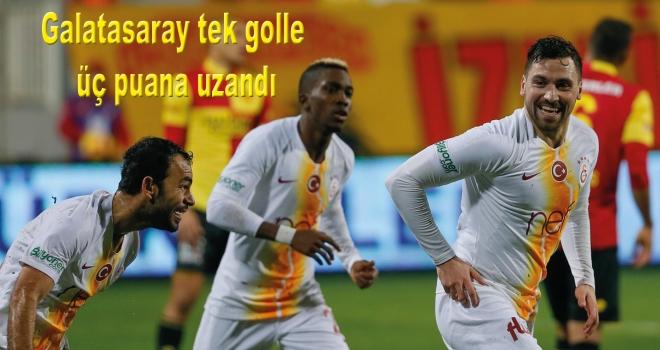Galatasaray tek golle üç puana uzandı