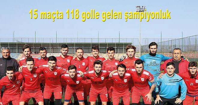 15 maçta 118 golle gelen şampiyonluk