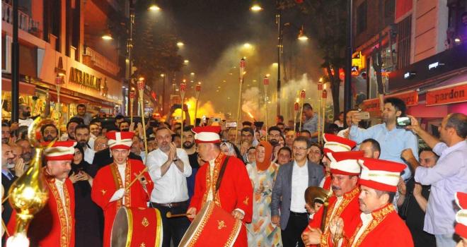 Eyüpsultan'da muhteşem 'Fetih Yürüyüşü' düzenlendi