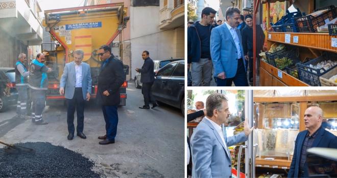Başkan Usta Merkez Mahallesi'nde İncelemelerde Bulundu