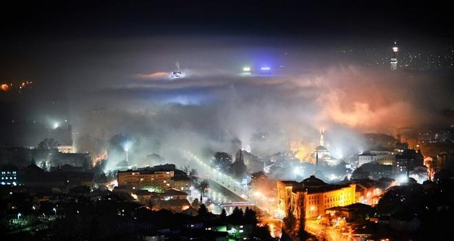 Saraybosna'da yoğun hava kirliliği